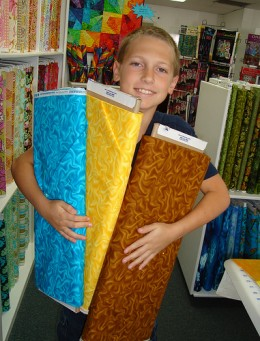 Choosing fabric at a quilt shop is fun, but it can be expensive.
