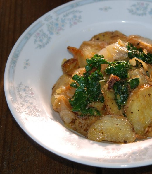 Sweet potato curry with kale and walnuts. Recipe available by clicking on the link.