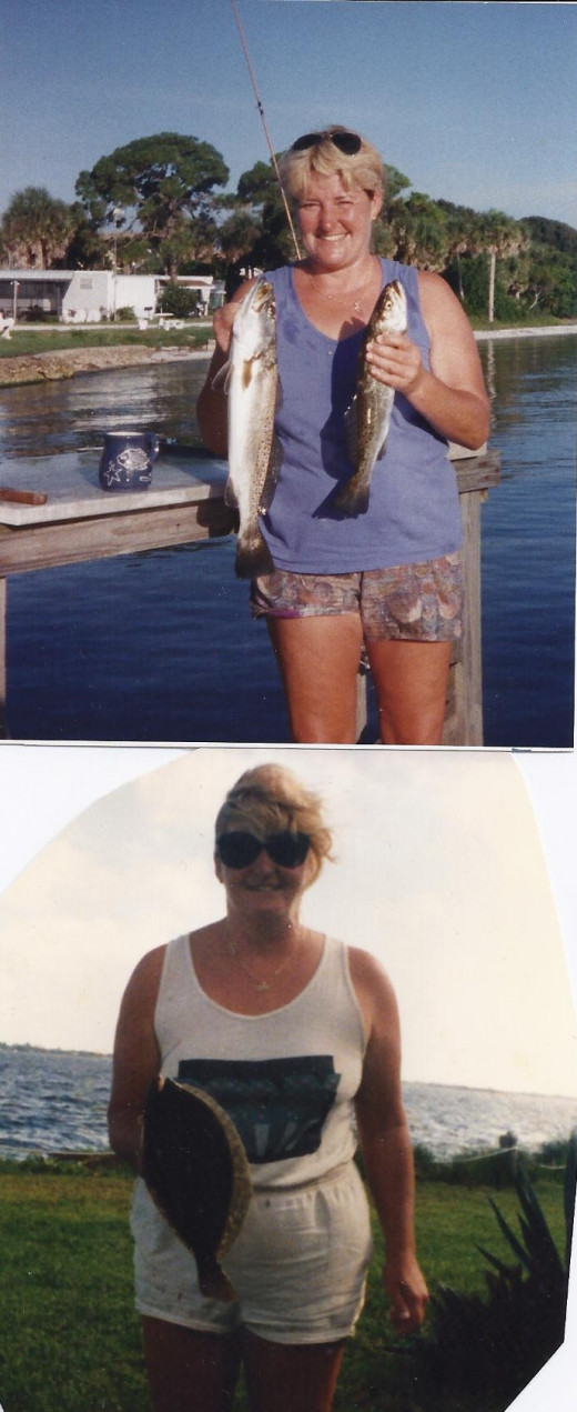 Top Photo- Gator Trout Bottom Photo- Flounder
