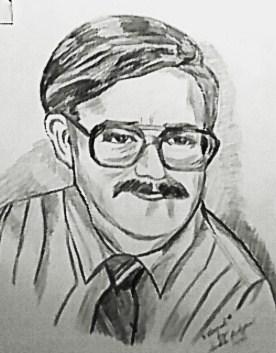 A self portrait of a teacher,artist, painter, and writer.