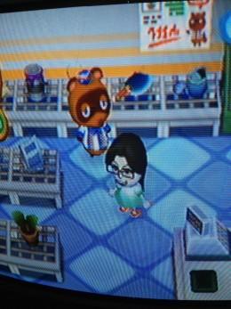 Tom Nook's store in Animal Crossing: City Folk