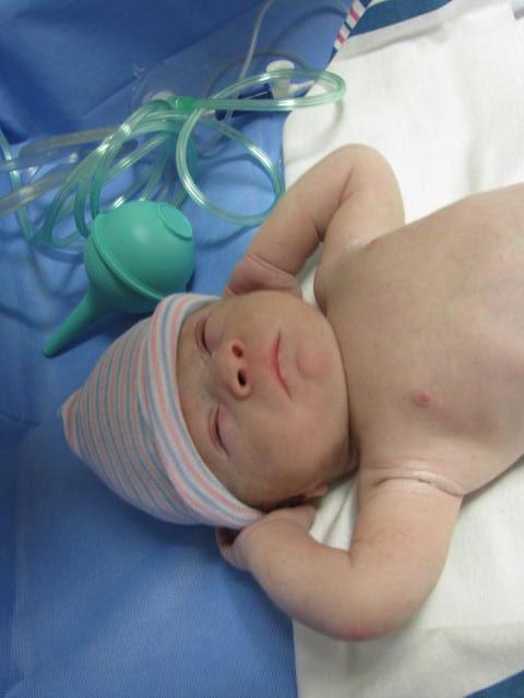 A newborn baby.