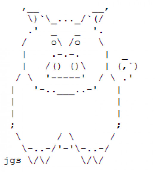 One Line Ascii Art Dog : Ascii art dog pixshark images galleries with a