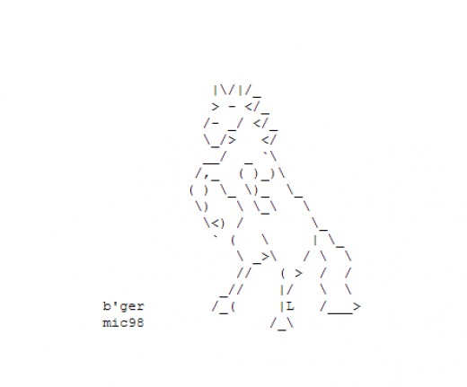 One Line Ascii Art Holidays : Year of the horse happy new ascii text art hubpages