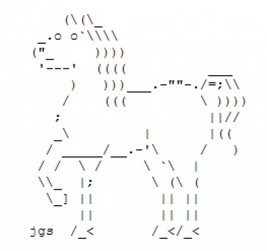One Line Ascii Art New Year : Year of the horse happy new ascii text art hubpages