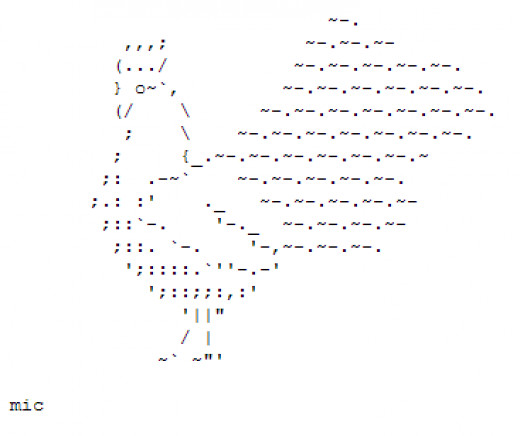One Line Ascii Art New Year : Year of the rooster happy new ascii text art