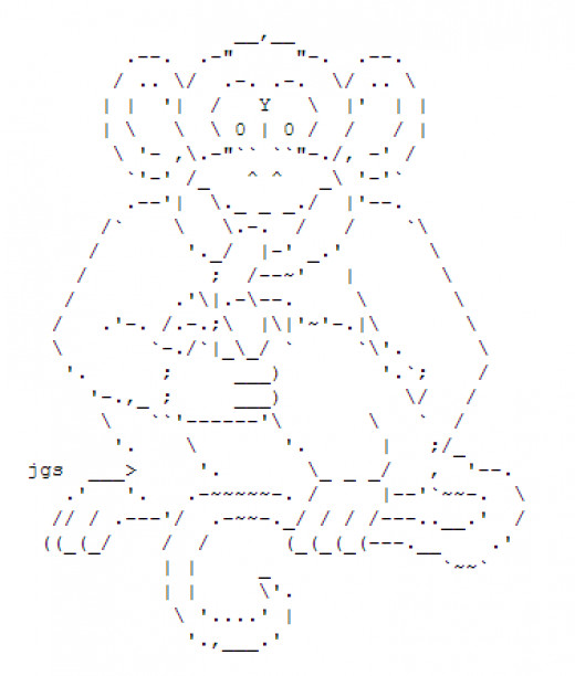 One Line Ascii Art New Year : Year of the monkey happy new ascii text art hubpages