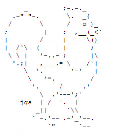 Year of the Rooster: Happy New Year ASCII Text Art