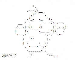 Year of the Monkey: Happy New Year ASCII Text Art