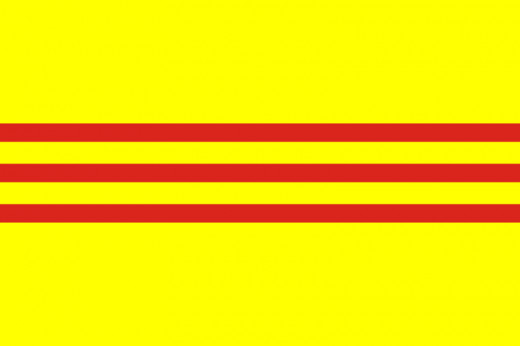 Flag of the Former Republic of Vietnam (aka South Vietnam)