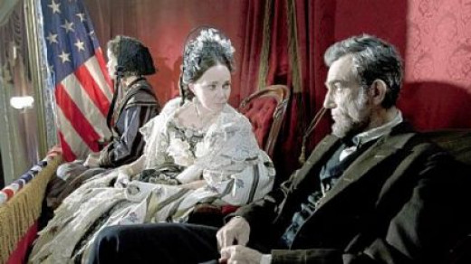 Sally Field is Mary Todd Lincoln and Daniel Day-Lewis is the 16th president in Steven Spielberg's epic drama, Lincoln.