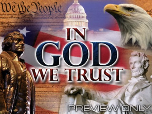 Our nation began this motto, but today, certain groups are trying to remove it ENTIRELY from our culture!   Huge mistake!