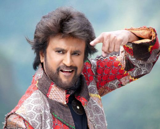 Rajnikanth showing his style