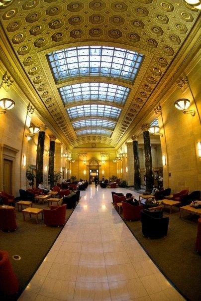Inside Walter Library!