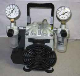 This is a Welch (piston) roughing pump