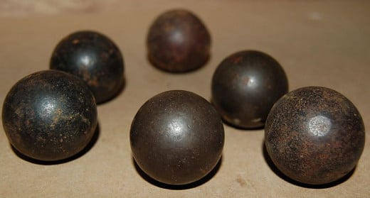 Various sizes of musket balls.