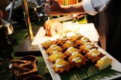 Buffet in Café on the Ridge of Taal Vista Hotel in Tagaytay