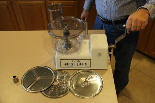New Hand Crank Mixer and Food Processor