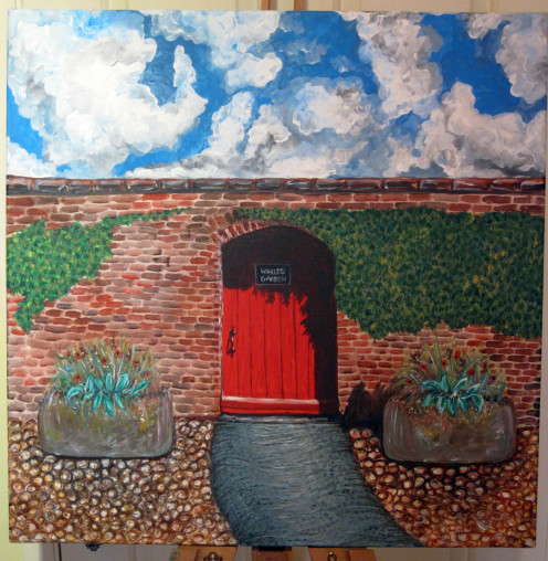 Sledmere Walled Garden.   Hilary Miller-Gough. The Yorkshire Palette. Original landscape painting