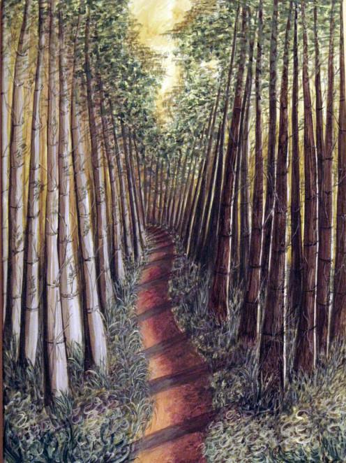 Allerthorpe Forest Trail.   Hilary Miller-Gough. The Yorkshire Palette Original landscape painting.