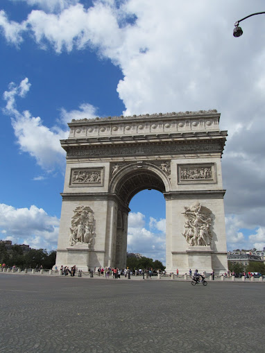The Arc de Triomph, an iconic symbol of France