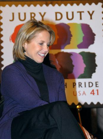 Katie Couric at the 2008 New York Juror Appreciation Day at the New York County Courthouse.