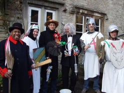 Mayor, Knights, and a Quack Doctor. Mummers on Boxing Day (December 26) in the UK.
