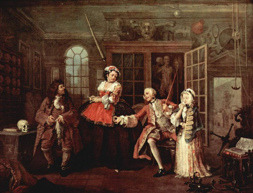 """The Visit to the Quack Doctor"", by artist William Hogarth, about 1745. Quack Doctors and magic potions are often a part of Mummer's Plays."