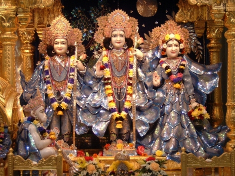 Statues of Lord Rama, Sita, Lakshmana and Hanuman