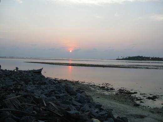 Setting Sun - at Kalpeni
