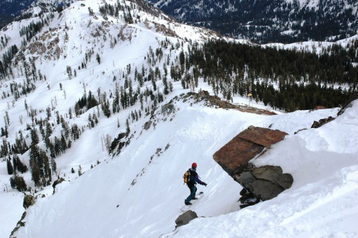 Extreme snowboarder, Squaw Valley