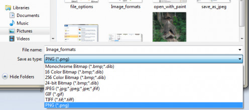 Click Save As option to choose any image format (Source: Anand)