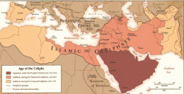 Map of the Muslim conquests of the age of the Caliphs