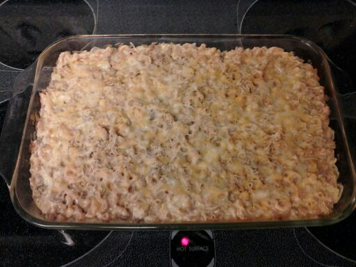 Mac and cheese with turkey