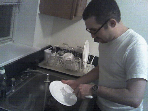 Perfect example of an act of service. This man would have just made me feel loved, i hate dishes!