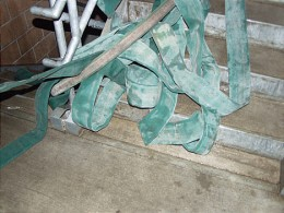 A tangled hose is a dangerous thing. Hoarder's homes are usually cluttered and make advancijng a hose even more dangerous.