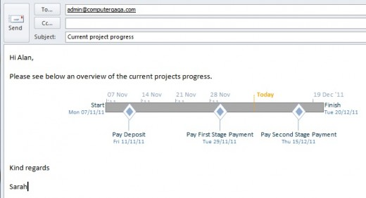 Export the project timeline