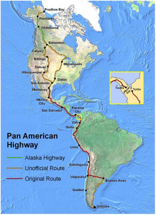 Pan American Highway - Longest road in the world (pic from Wikipedia)