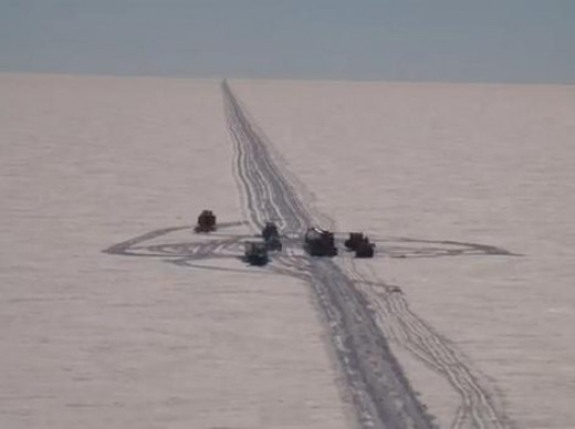 Iciest road on earth - South Pole Traverse