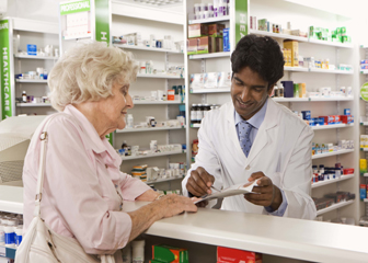 Pharmacists dispense prescription medications to patients and offer advice on their safe use