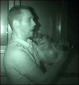 Nick right before he saw the apparition of the little girl.