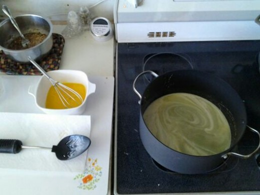 Making the custard