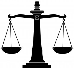 Scales of justice - symbolizes balance and impartiality, but too often the scales are tipped by outside influences.