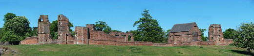 The ruins of Bradgate House- the home of Lady Jane Grey.