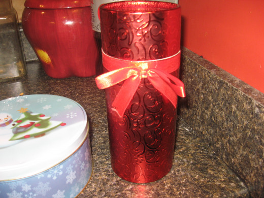 You can find attractive holiday containers at dollar stores for $1 each.