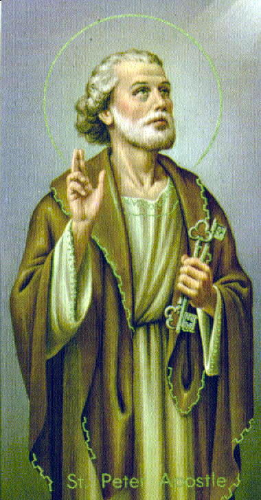 St Peter, the undisputed leader of the 12 Apostoles