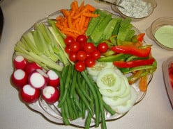 Veggies and dip.