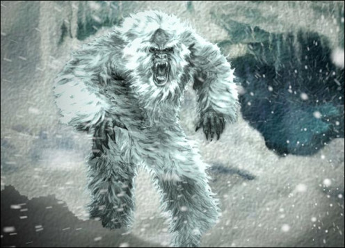 The creature yeti- no one has seen but people believe it exists