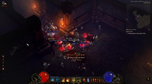 Using sacrifice on a cluster of enemies to spawn 3 dogs at once.