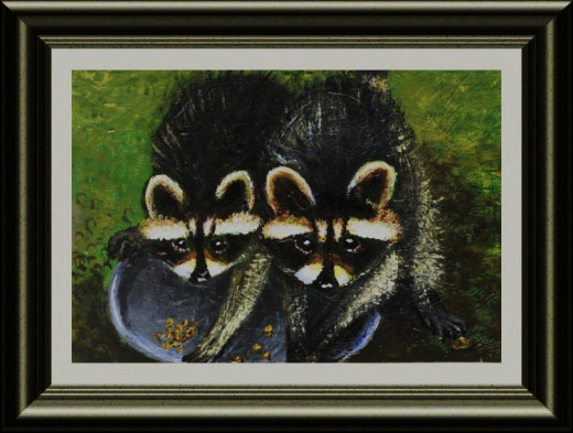 Two Racoons (It's my painting made after a photography by Robin Christofori).